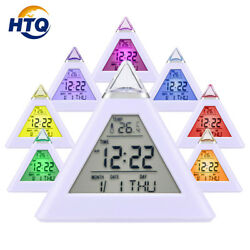HAMSWAN Digital Alarm Clock 7 LED Color Changing Temperature Display Sleep Mode