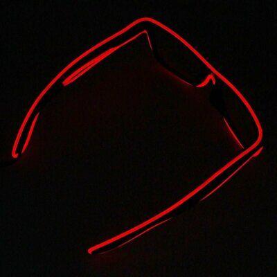 rot LED Party Brille Sonnenbrille verschiedene Farben leuchten Rave Festival