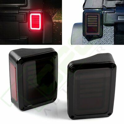2x LED Tail Lights Rear Brake Turn Signal Reverse For 2007-2017 Jeep Wrangler JK