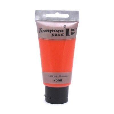 Tempera Paint Tube (Tempera Water Based Acrylic Paint Tube 75ml -Red Canvas Painting Primary Colours)