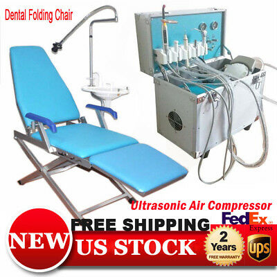 Portable Dental Delivery Unit W Slow Suction 4 Hole Folding Dental Chair Usa