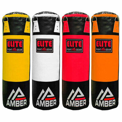 Amber Elite Boxing MMA Fitness Workout Training Filled/Unfilled Heavy Bag 100 lb Filled Punching Bag