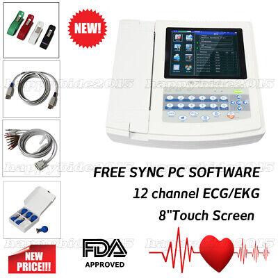 CONTEC ECG1200G Digital 12 channel/lead EKG+PC Sync software, Electrocardiograph comprar usado  Enviando para Brazil