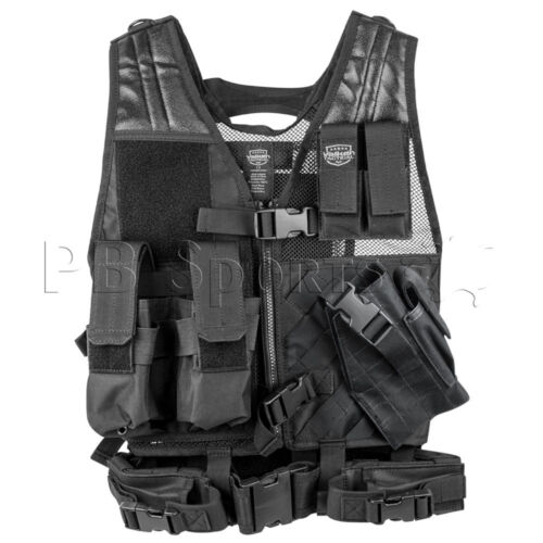 Valken Crossdraw Paintball Airsoft Vest Tactical Youth Black Protection Padded