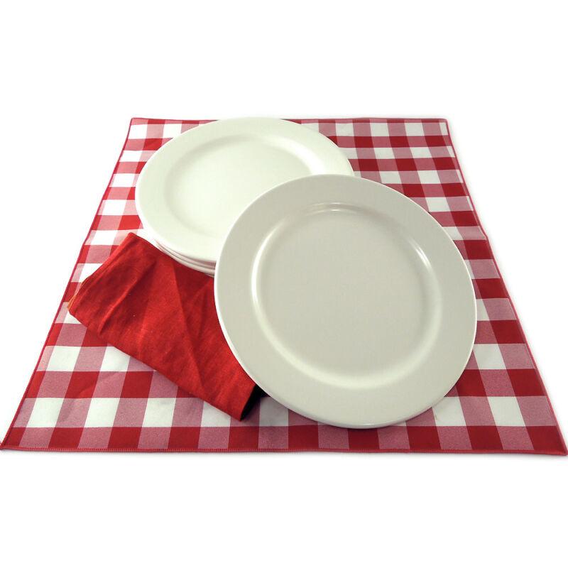 "Case of 24 10.75"" Heavyweight Melamine Restaurant Dinner Plates China Appearance"