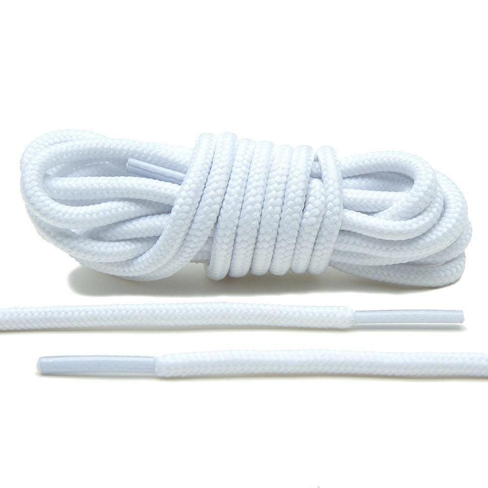 Thick Rope Laces 54″ White Round Shoelaces for Sneakers Jordan IX Lace Envy Clothing & Shoe Care