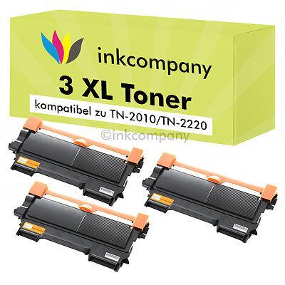 3 x XXL TONER PATRONE NEU für Brother MFC7360N MFC7460DN MFC7860DW TN2220