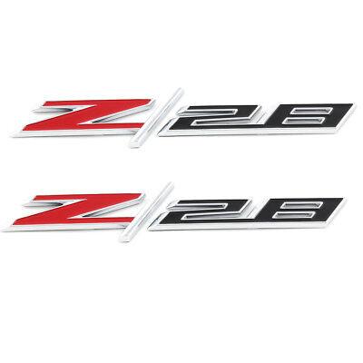 OEM NEW Fender Emblem Nameplate Z/28 Right & Left Set Chrome Camaro 22925211