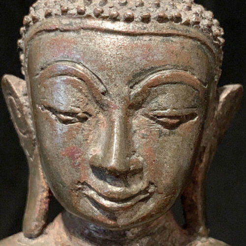Authentic bronze Burmese Myanmar Shan Buddha 18th c
