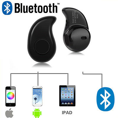 Bluetooth 4.0 In Ear Kopfhörer Ohrhörer Wireless Mini Headset Handy S530 Schwarz