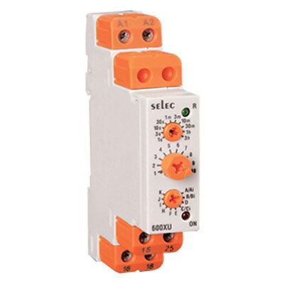 Selec Controls 600xu-a-1-cu 17.5mm Din Rail Timer Analog