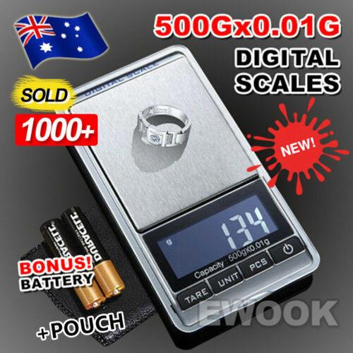 Jewellery - NEW 500g 0.01 DIGITAL POCKET SCALES JEWELLERY ELECTRONIC milligram micro mg