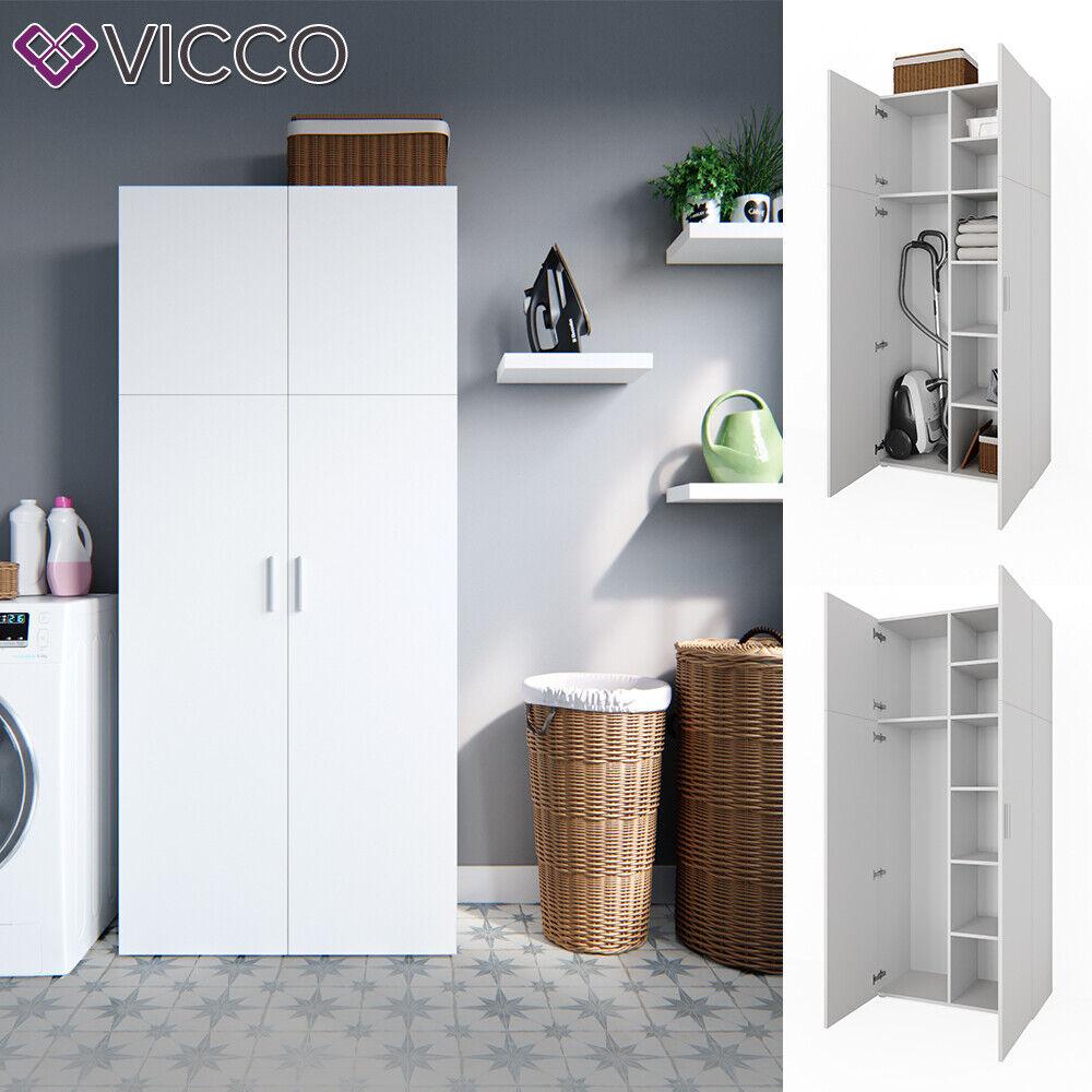 Vicco Schrank Ingo weiß - 2 Türen Universal Mehrzweckschrank Putzschrank