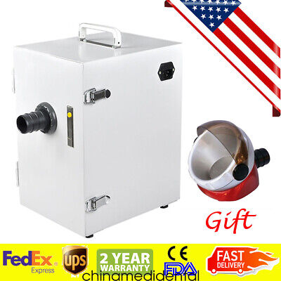 Us Dental Digital Dust Collector Vacuum Cleaner Lab Machinefree Suction Base Ce