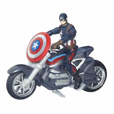 Marvel Legends Series Captain America Figure And Motorcycle (multi-colour)