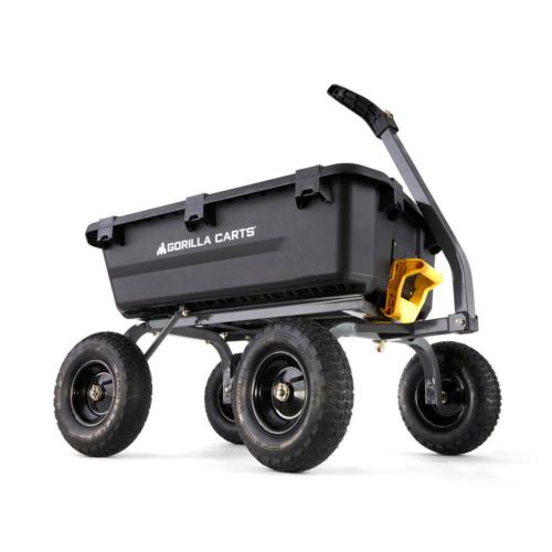 GORILLA CARTS Yard Dump Cart 7 cu ft Poly Hauling Garden Ste