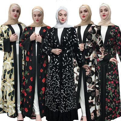 Dubai Abaya Muslim Women Open Cardigan Long Maxi Dress Kimono Gown Kaftan Jilbab