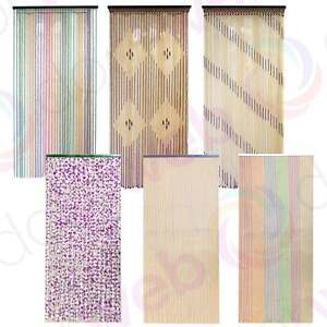 String door curtain fly screen