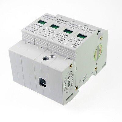 4p 20-40ka Din Rail Mount Spd Circuit Lightning Protection Device Arrester 2.0kv