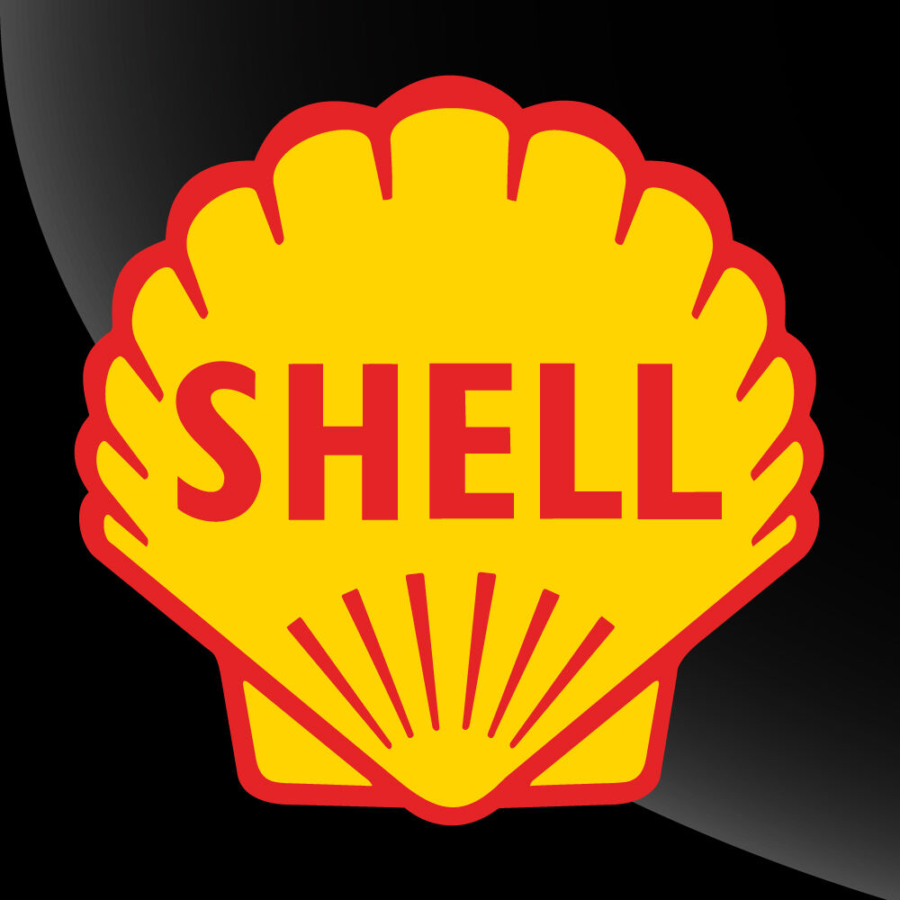 Home Decoration - Shell Vinyl Decal Sticker Gasoline Petroleum - 2 inch to 12 inch