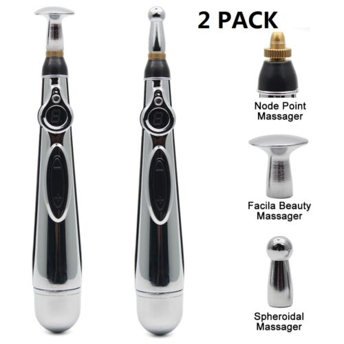 2PCS Electric Acupuncture Magnet Therapy Heal Massage Pen Meridian Energy Pen Acupuncture