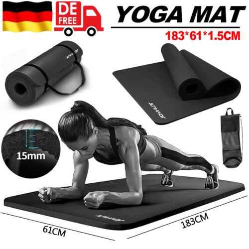 Pilates Yogamatte Fitnessmatte Gymnastikmatte Sportmatte Matte Yoga 15mm 5Farbe