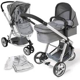 TecTake 3 in 1 Pushchair stroller
