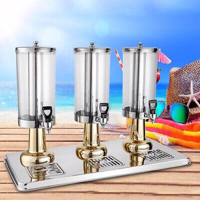 Commercial 3 Tank 3l3 Cold Drink Juice Beverage Dispenser Stainless Steel