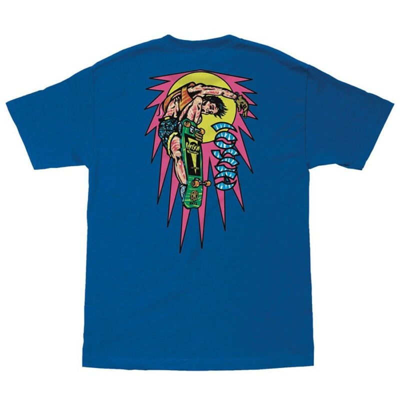 Santa Cruz Christian Hosoi ROCKET MINI AIR Skateboard T Shirt ROYAL BLUE MEDIUM