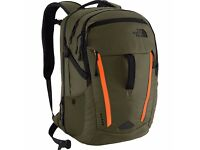 The North Face Surge Backpack - Forest Night Green/Acrylic Orange
