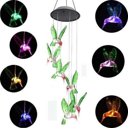 Farbwechsel LED-Solar-Windspiel, LED-Leuchten, Windspiel Party Garten-Dekoration