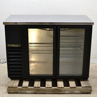 True Tbb-24-48g Black 2-swinging Glass Door Back Bar Refrigerator Cooler