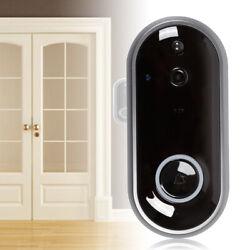 Door Bell WiFi Wireless Video Doorbell Smart Security HD 10.6 CM w/ Alarm Clock