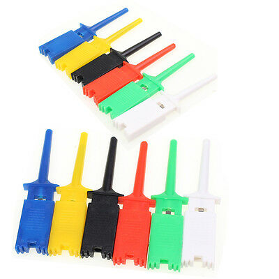 12pcs Grabber Test Hook Clip Probe 6 Color Multimeter Test Tools For Smd Ic