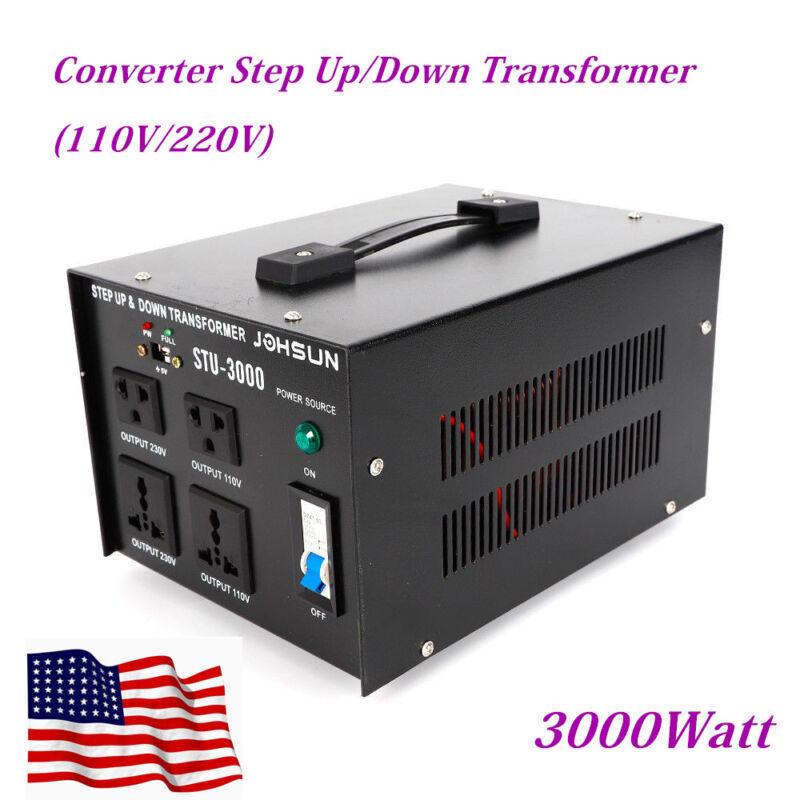 3000W Voltage Converter Transformer Machine Heavy-Duty 110V to 220V/220V to 110V