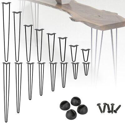 "4X Hairpin Legs Table Coffee Furniture Leg FREE Screws & Protector Metal 6""-28"""