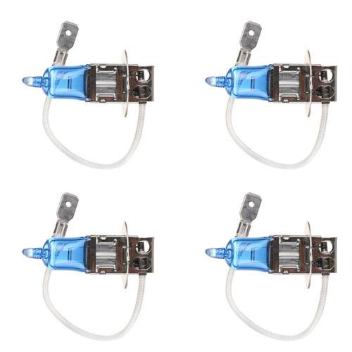 4Pcs H3 6000K Xenon Gas Halogen Headlight Light Lamp Bulbs 55W 12V