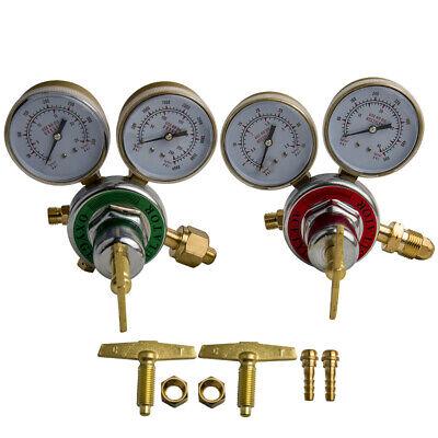 Oxygen Acetylen Gas Welding Regulator Fit Victor Torch Cutting Solid Brass Set
