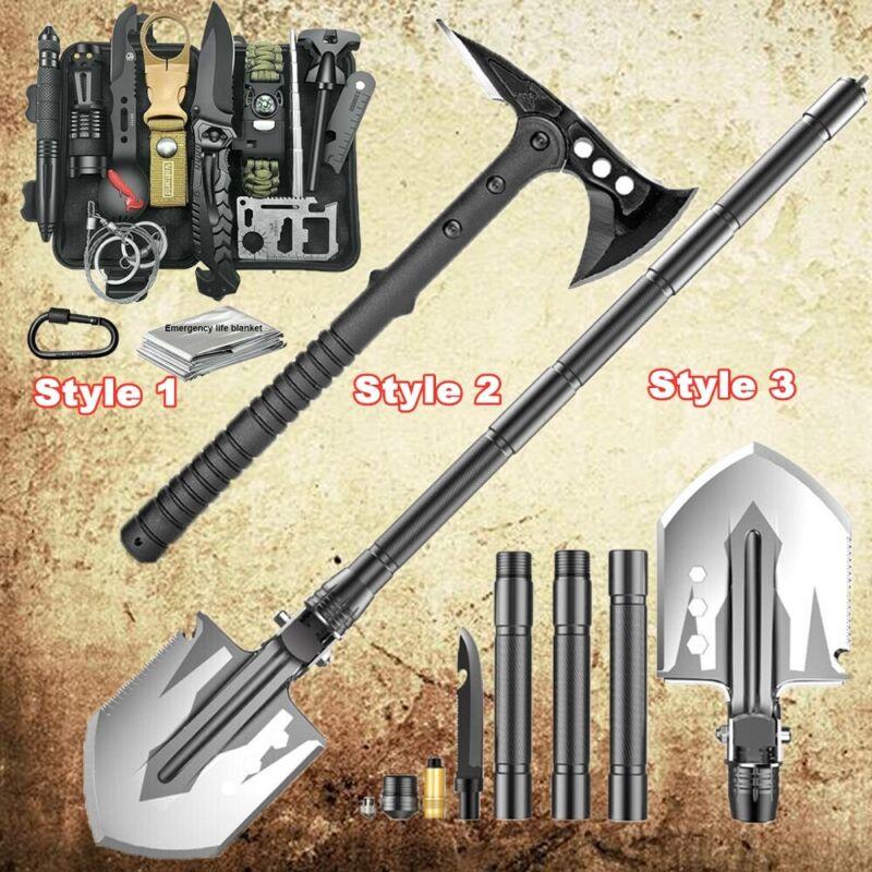 Camping Folding Shovel Axe Survival Kit Outdoor Tactical Hatchet Gear Multi-tool