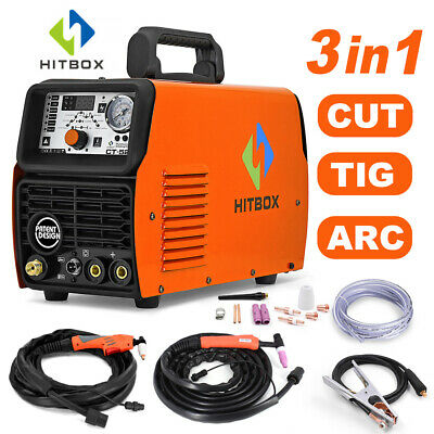 Hitbox 3in1 Multiprocess Welder Cutters Tig Mma Arc Welder 50a Air Plasma Cutter