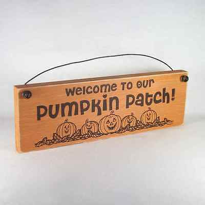 Welcome to our Pumpkin Patch Halloween sign assorted color halloween autumn fall