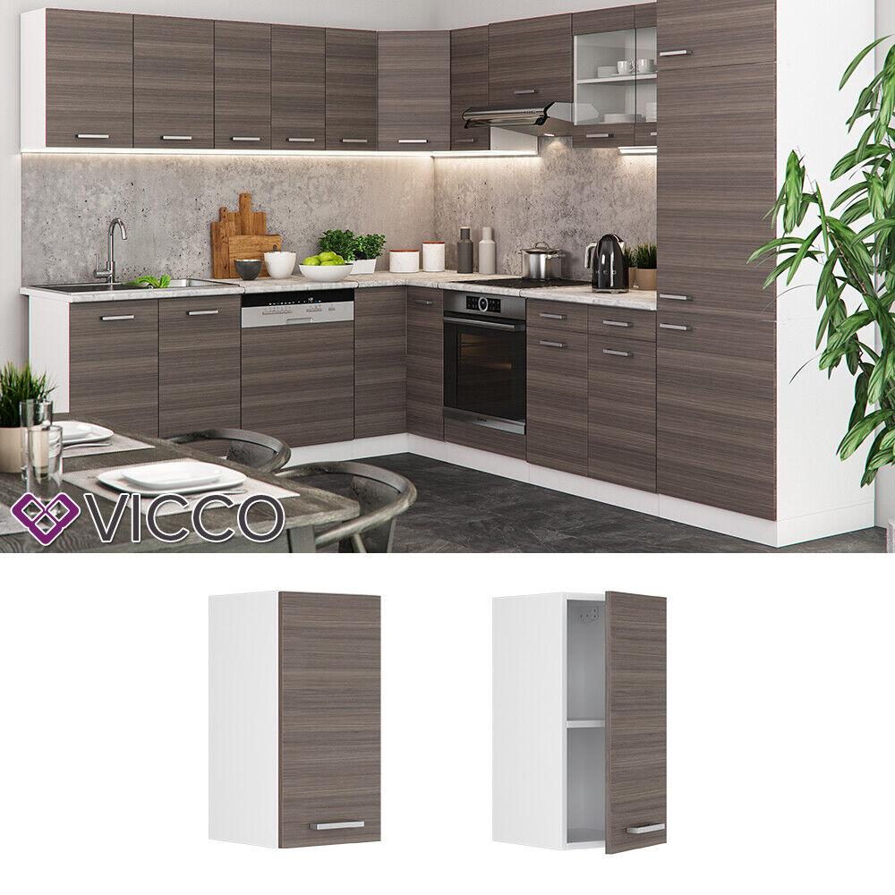 VICCO Küchenschrank Hängeschrank Unterschrank Küchenzeile R-Line Hängeschrank 30 cm edelgrau