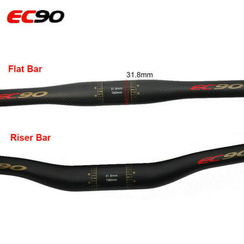 Carbon Fiber Mountain Bike Bicycle Racing Riser Bar Handlebar 25.4*600-660mm