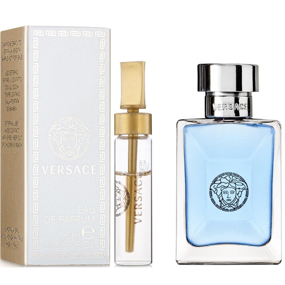 Versace Pour Homme Men's Mini Eau de Toilette Splash + Eau d