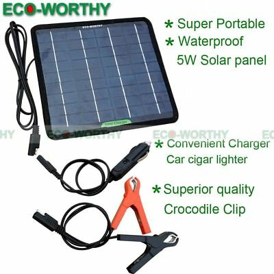 ECO 5W Portable Solar Panel Power Battery Charger Backup for Car RV Yacht Travel
