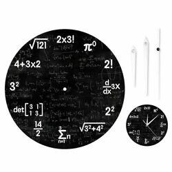 Wall Clock Math Equations and Notations Mathematics Chalkboard Classroom Decor