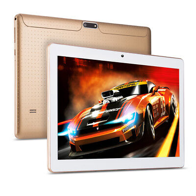 10.1'' Google Tablet PC Android 6.0 Octa Core 4+64GB HD WIFI 3G Phablet Dual Cam