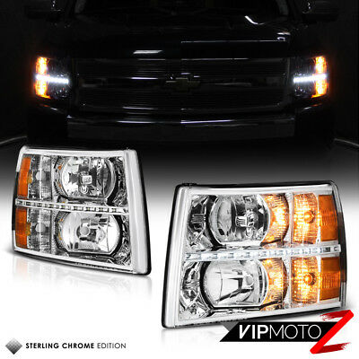 2007-2013 Chevy Silverado 1500 2500HD 3500HD LED SMD DRL Headlights Headlamps