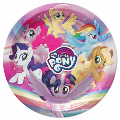 My Little Pony Movie Lunch Plates 8 Per Package Birthday Party Supplies New - Mlp Birthday Party