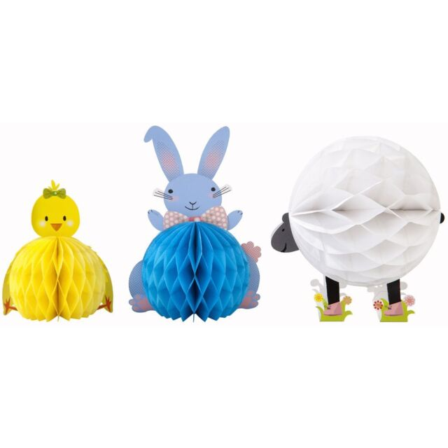 Talking Tables Easter Decorations Springtime Honeycomb Friends Chick Bunny Lamb